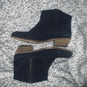 Steve Madden Suede Western Ankle Boots